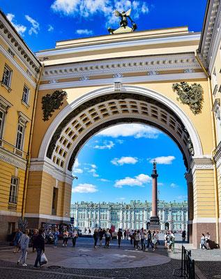 Blick auf dem Palastplatz