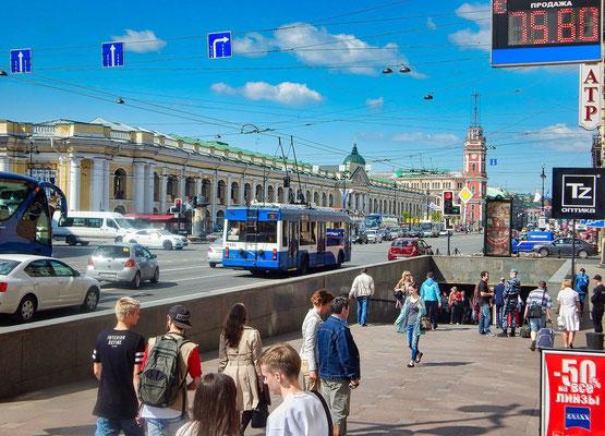 Unterführung für den Newski Prospekt und das Kaufhaus Gostiny Dwor