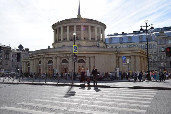 Metrostation am Moskauer Bahnhof