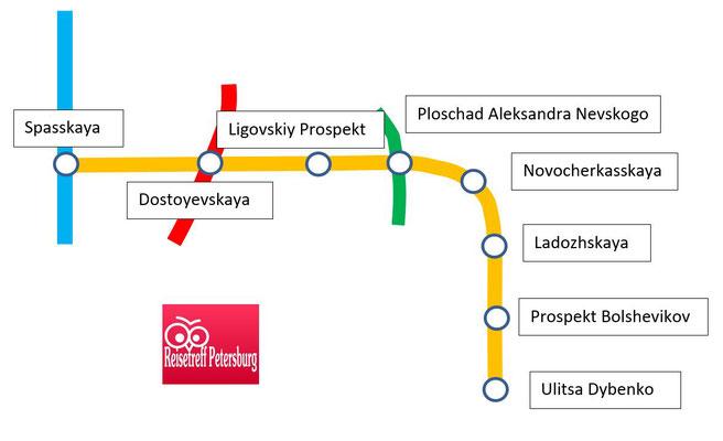 Schema orange Linie Metro