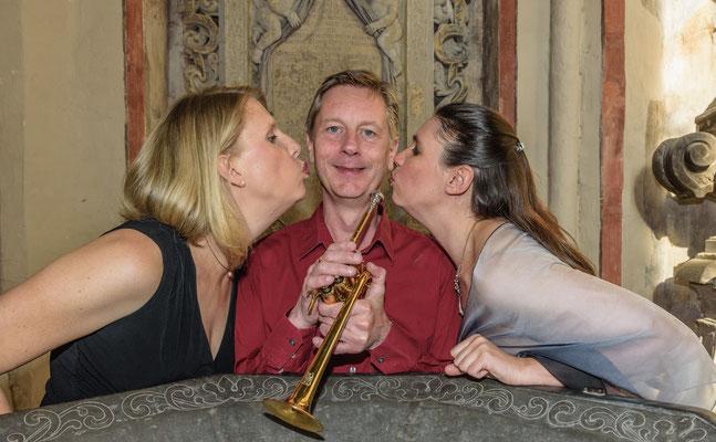 Trio Gudrun Heinsius/Lars Ranch/Andrea Chudak (Orgel+Trompete+Sopran) (Foto: Alex Adler)