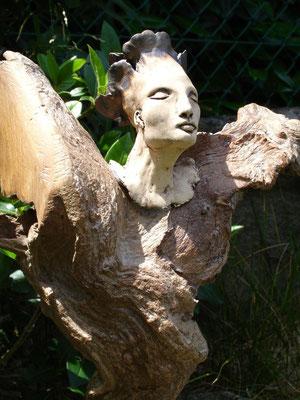 Engel, Keramik-Holz, verkauft