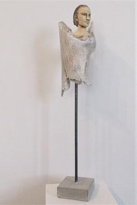 Tree-People, Keramik-Holz, ca. 35 cm