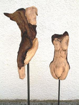 Torso, Keramik-Holz, verkauft