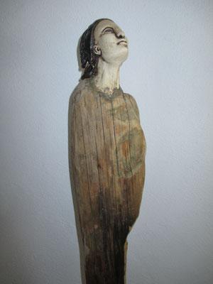 Figur, Keramik-Schwemmholz, verkauft