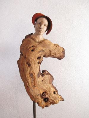 Tänzerin, Keramik-Holz, verkauft