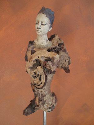 Figur Keramik-Holz, verkauft