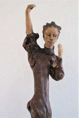 Tree-People, Keramik-Rebenholz, ca. 80 cm