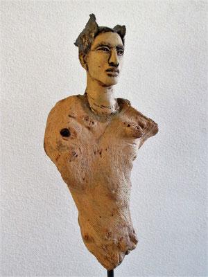 Hermes, Tree-People, Keramik-Holz, verkauft