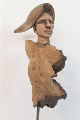 Tree-People, Keramik-Holz, ca. 30 cm