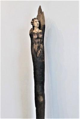 Tree-People, Keramik-Schwemmholz, ca. 60 cm