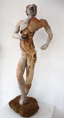 Tänzer, Keramik-Holz, verkauft