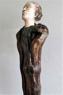 Tree-People, Keramik-Rebenholz, ca. 50 cm