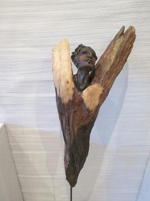 Engel Keramik-Holz, verkauft