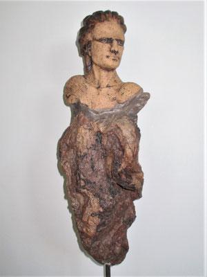Tree-People, Keramik-Schwemmholz, ca. 80 cm