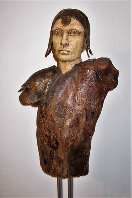 Tree-People, Keramik-Holz, ca. 140 cm