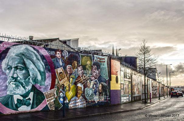 Muur in Belfast © Minou Spits