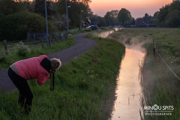 Fotograaf Minou in actie