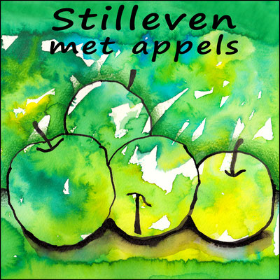 Maak een professioneel uitziend appel-kunstwerk met ecoline en inkt!