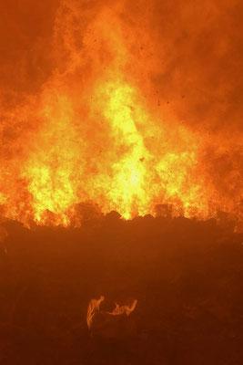 Brennkammer: Der Abfall wird im Verbrennungsofen der Renergia bei Temperaturen von 1000 bis 1200 Grad verbrannt, bis keine brennbaren Elemente mehr darin enthalten sind.