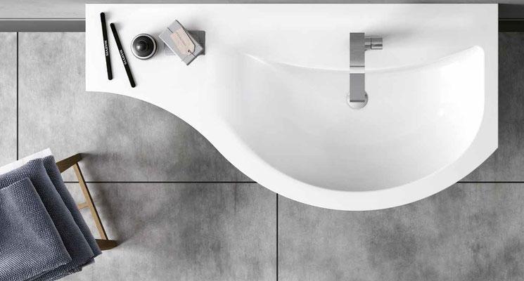 SISTEMA GOLA Composizione Young consolle lavabo a destra