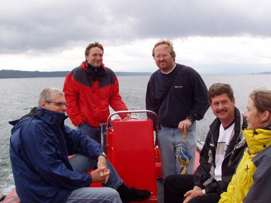 v. l. n. r.: Hubert Beer, Tobias Pflederer, Marcus Thier, Bernhard Vollhardt, Lena v. Gartzen
