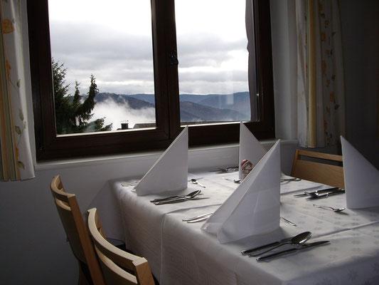 Restaurant im Hotel Arnica mit Aussicht