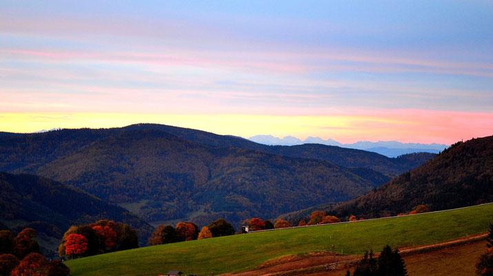 Sonnenaufgang im Herbst