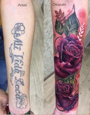 tatuaje cover rosas