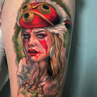 tatuaje princesa mononoke
