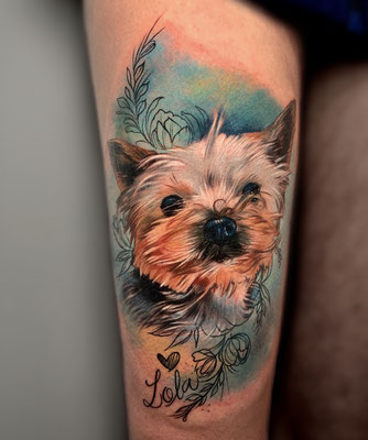 tattoo yorsike realista