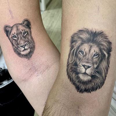 tatuaje leon leona