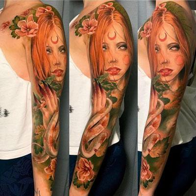 tatuaje bruja realista