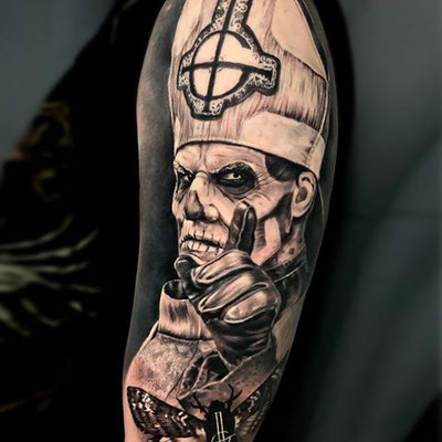 tatuaje papa ghost
