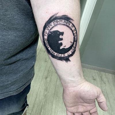 tatuaje lobos sketch