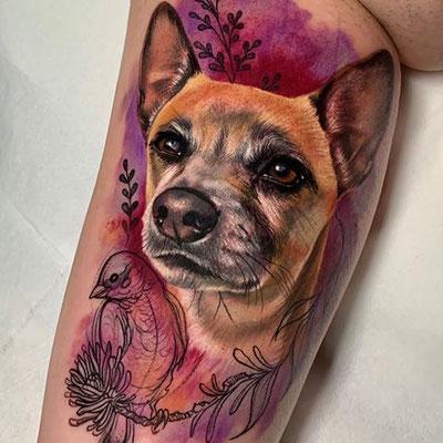 retrato perro tattoo