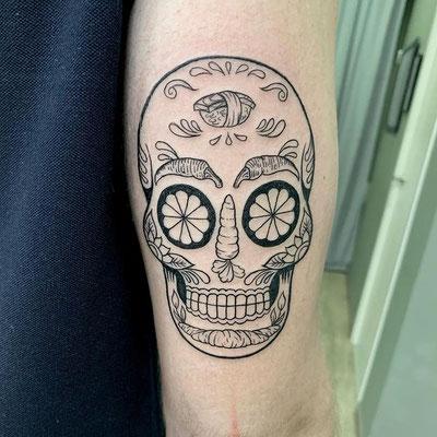 tatuaje calavera chef
