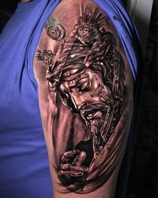 tatuaje cristo gitanos