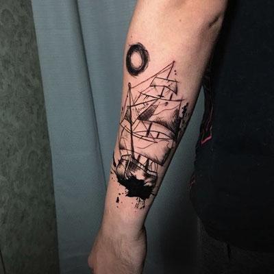 tatuaje barco pirata