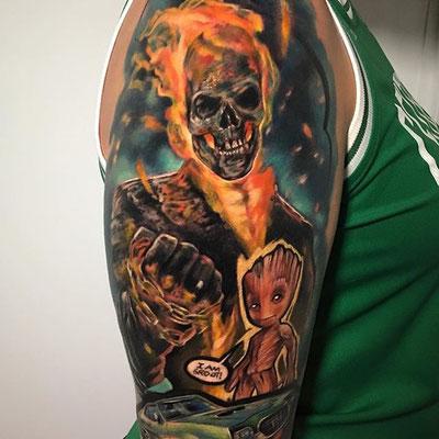 Ghost rider tattoo