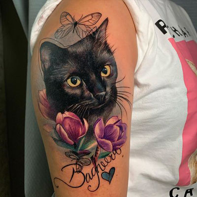 retrato gato tattoo