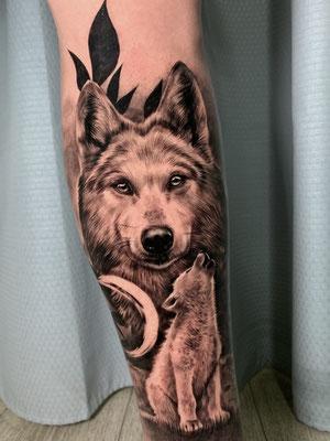 tatuaje lobo lobezno