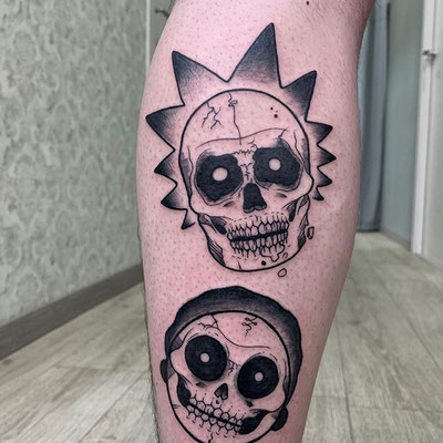 tatuaje rick morty