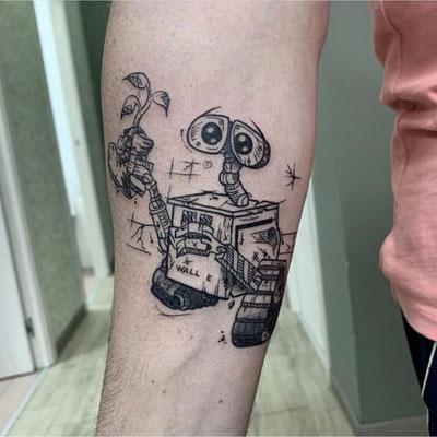 tatuaje walle