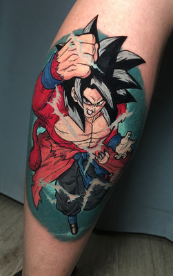 tatuaje goku color