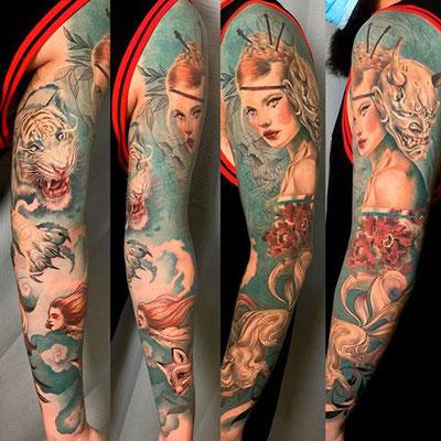 manga tatuaje oriental