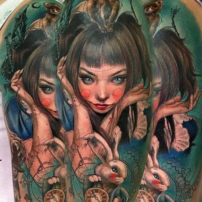 alice in wonderland tattoo