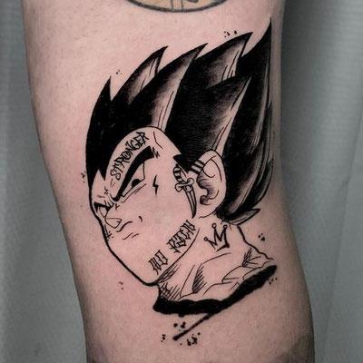 tatuaje vegeta sketch