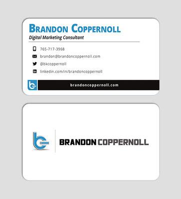 Brandon Coppernoll Business Card Design