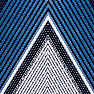 Pinstriped Pyramid. (Manhattan, New York, April 2015)